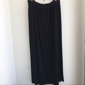 ANN TAYLOR LOFT | Black Maxi Skirt Size XL